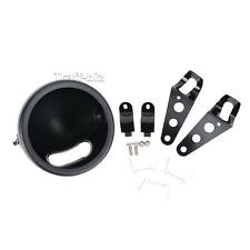 """5 3/4"""" Motorcycle Black Headlight Cover Lamp Shell Bucket Assembly For Harley"""