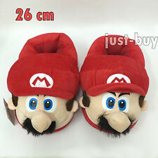 Super Mario Bros. Character Plush Slippers Shoes Soft Toy 26cm UK Men Size 5~7