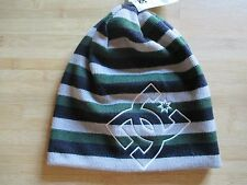 NEW DC SHOES SKATE BEANIE Skull Cap HAT OSFA S M L Grey Blue Stripes