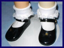 BLACK Patent Mary Jane Doll SHOES fit CHATTY CATHY  U.S. Ships Free