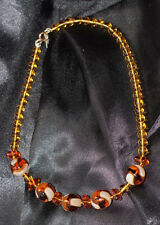 GENUINE BEAUTIFUL VINTAGE BALTIC AMBER BEADS NECKLACE 1930s ANTIQUE ART DECO