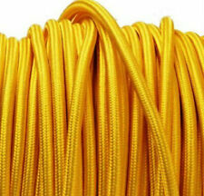YELLOW vintage style textile fabric electrical cord cloth cable