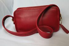 Vintage Coach Classic Legacy Red Leather Cross-body Handbag