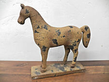 """VIntage-Style Antique-Look """"Carved"""" Resin Horse Figure Statue on Base"""