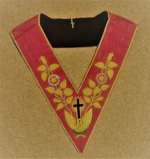 Masonic Collar - 18th Degree Rose Croix - Embroidered - New - UK post included