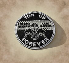 Ton Up,Cafe Racer,Patch,Aufnäher,Aufbügler,Badge,Vintage,Old School,100 MPH