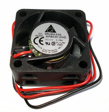 Delta AFB0412HD 40mm x 20mm High Performance 12V 2 Wire Mini Fan w/ Tinned Leads