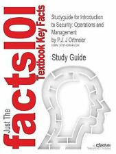 Outlines & Highlights for Introduction to Security: Operations and Management by