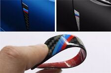 4pcs door scratch bumper carbon fiber scuff car accessories 3D stickers For BMW