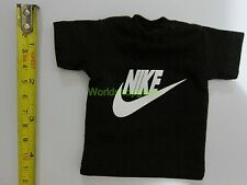 "1/6 Scale Tee Black Short Sleeves T-Shirt Sport For 12"" Action Figure #N"