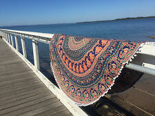 URBAN OUTFITTERS MAGICAL THINKING ROUND COTTON TAPESTRY BEACH TOWEL HOME DECOR.
