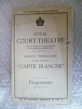 Royal Court Theatre Programme CARTE BLANCHE - R P Weston ,Bert Lee