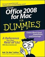 Office 2008 for Mac For Dummies LeVitus, Bob Paperback