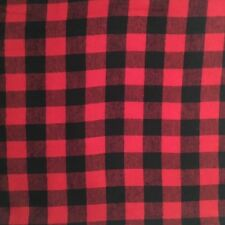 """Red And Black Buffalo Plaid Flannel Fabric 3/4"""" Check"""
