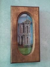 VINTAGE VICTORIAN HOUSE ARCHITECTURE DIORAMA  HANDMADE LIFTED CUTWORK MODEL