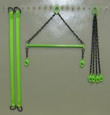 "4"" Brass Crane Spreader Bar Set in Sennebogen Green. 1:50 1:48th Scale. USA Made"