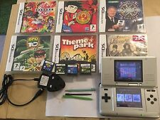 NINTENDO DS Gen1 SILVER CONSOLE +10++ GAMES COLLECTION BEN 10 BAKUGAN PERSIA +++