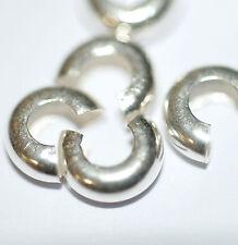 Crimp Cover Kaschierperlen 925er Silber  7 mm 4x von BACATUS