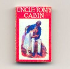 Handcrafted Miniature Book Uncle Tom's Cabin with Dust Jacket for 1:12 Dollhouse