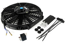 "7.5"" Blade 12 Volt Slim Fan + 30a Relay - Heat Exchange Charge cooler Radiator"