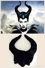 NEW MALEFICENT FABRIC HAT HORNS WITCH VILLAIN HORROR HALLOWEEN FANCY DRESS PARTY