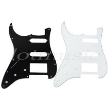 2pcs Left-handed Guitar Pickguard Scratch Plate for Strat SSH 3ply Black/White