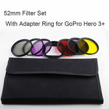 Red Yellow Purple CPL UV ND4 Filter +Underwater Diving Adapter For Gopro Hero 3+
