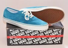 VANS SIZE 13 LIMITED RELEASE DEADSTOCK JEWEL BLUE SUEDE TURQUOISE TEAL WHITE