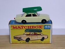 Matchbox Lesney No.45b Ford Corsair With Boat In Type F1 Box (SILVER-GREY BASE!)