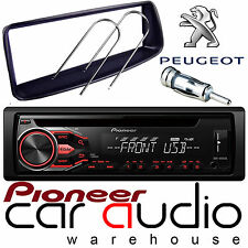 Peugeot 206 Pioneer CD MP3 USB AUX Amber Car Stereo Radio Player & Fitting Kit