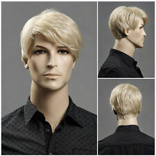 New Wig Men's Wig Light Blonde Fashion Short Hair Short Hair Wig Heat Resistant