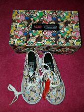 vans nintendo toddler uk size 7.5 girls shoes princess peach mario trainers NEW