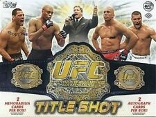 2011 Topps UFC Title Shot Factory Sealed Hobby Box - 4 Hits Per Box w/ 2 Autos
