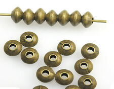 100 Antique Gold Rondelle Spacer Beads 5MM
