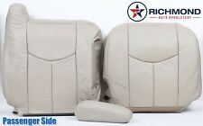 2003 2004 Chevy Tahoe LT z71 LS -Passenger Side Complete Leather Seat Covers TAN