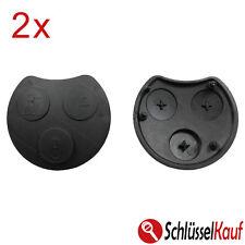 2 Stück Smart Gummi 3 Tasten Tastenfeld Auto Schlüssel Fernbedienung Coupe Neu