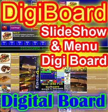 DigiBoard Signage Adverts Digital Chalk Board for epos Retail & hospitality