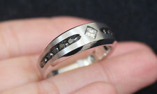 New 10K Sz11 Mens 0.45ct Natural White & Black Diamond Wedding Band Ring Gold