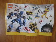 Lego 2003 CATALOG - 65182 3538 3433 4483 4729 4730 4489 star wars harry potter