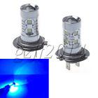 2x Blue H7 12V 6000K 50W Cree XB-D LED Light Bulb DRL Car Driving Lamp