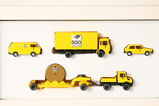 Wiking 1:87 500 Jahre Post Unimog m. low loader Box Truck MAN Golf VW Bus (15428