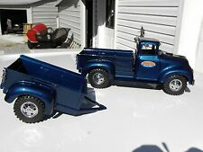 1957 Tonka Pickup & Matching Trailer - RESTORED