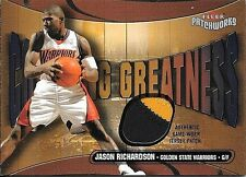 03/04 Patchworks Courting Greatness #JR Jason Richardson 2 Color Patch #111/150