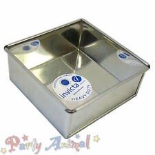 """Invicta 9"""" Inch Square High Quality Professional Cake Tin Pans / Bakeware Tins"""