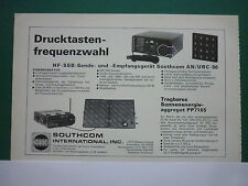 7/78 PUB SOUTHCOM ESCONDIDO RADIO HF SSB AN / URC-96 PP 7165 ORIGINAL GERMAN AD