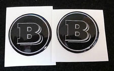 2 Adesivi Resinati Sticker 3D BRABUS Smart  55 mm