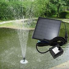 Solar Water Pump Power Panel Kit Fountain Pool Garden Pond Submersible Black TLC