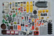 LEGO 100 Minifigure Accessories Boat Tools Ladders Fish Motorcycles Plants Lot