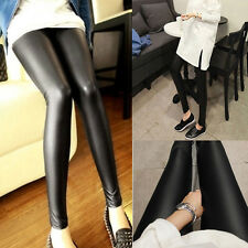 Popular Fashion Girl New Faux Leather High Waist Leggings Pants One Size