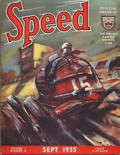 Speed Magazine 9/35 Malcolm Campbell Eyston Speed of the Wind BRDC 500 miles +